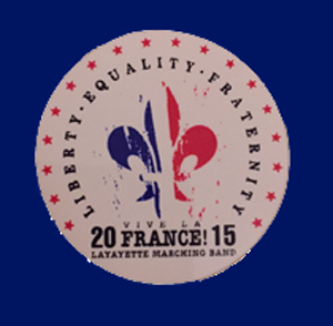 "2015 ""Vive la France"" show pin - Caption"